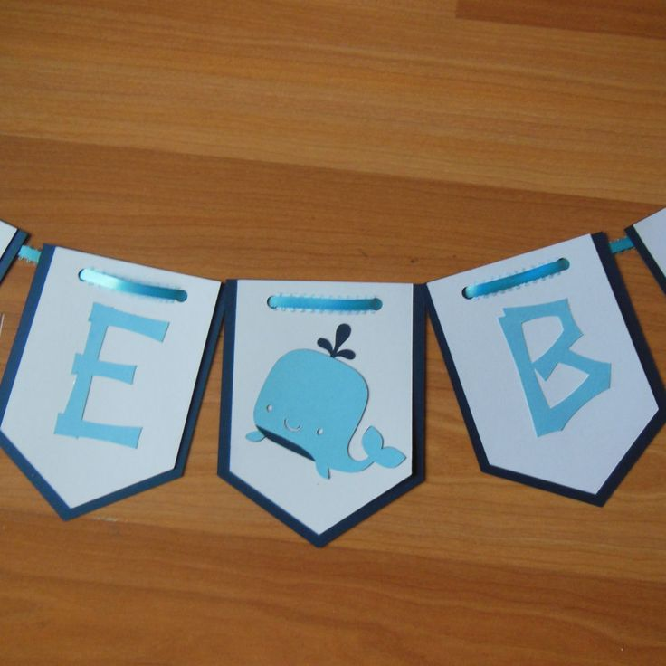 Whale Baby Shower Banner, Custom Whale Banner, Baby Whale Banner, Nautical Baby Banner, Nautical Banner by ReginesPartyBoutique on Etsy
