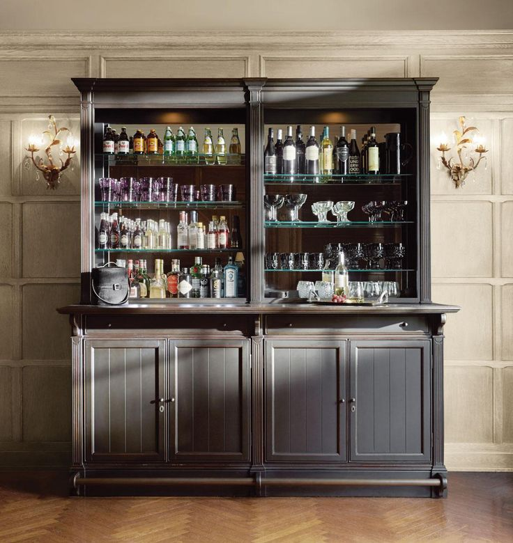 Athens Double Bar Cabinet In Tuxedo Black