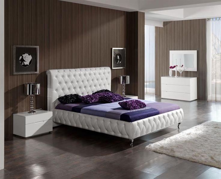 Camas tapizadas en polipiel modelo adriana decoracion - Decoracion de cabeceros de cama ...