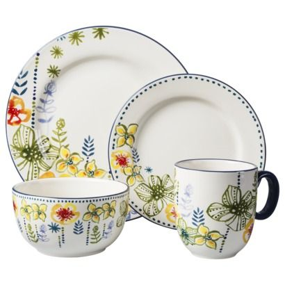 Threshold™ 16 Piece Goodwin Garden Dinnerware Set: Indoor Decor, 16 Pieces, Goodwin Gardens, Gardens Dinnerware, Threshold 16, Pieces Goodwin, Pieces Stoneware, Sets Goodwin, Dinnerware Sets
