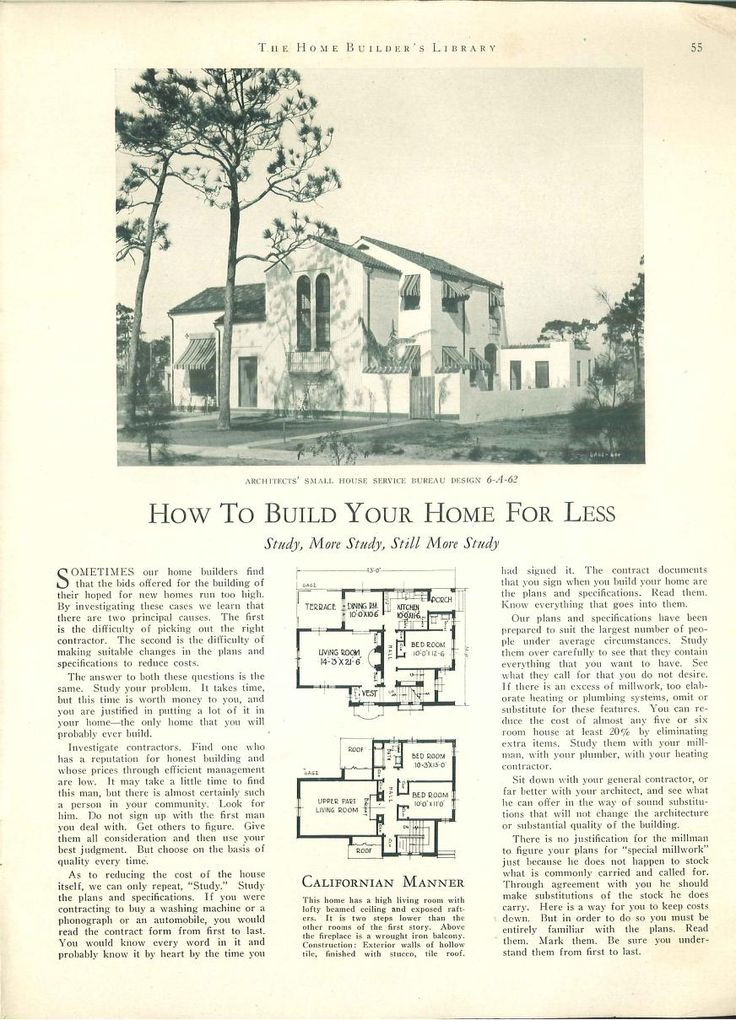 1017 best images about vintage house plans 1920s on Spanish revival home plans