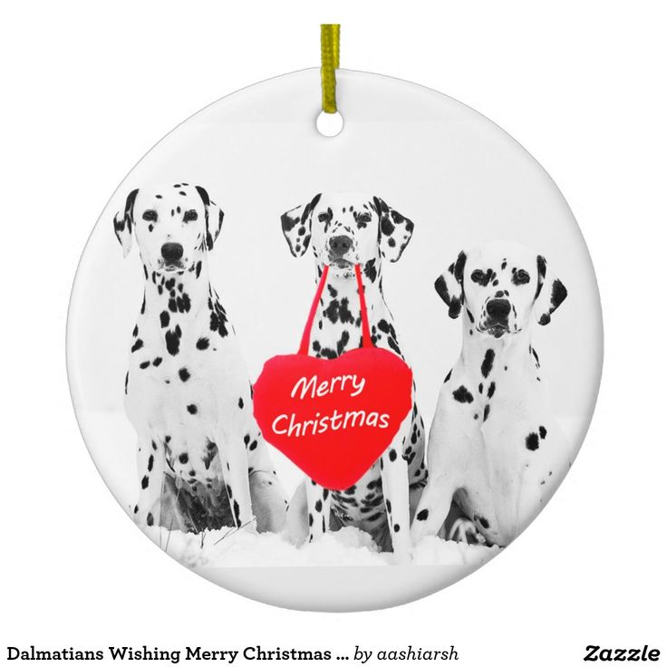 #Dalmatians Wishing Merry #Christmas #Heart #Ornament #Christmas2016 #Christmasdecorations