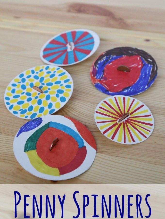 Penny Spinners Toy Tops that