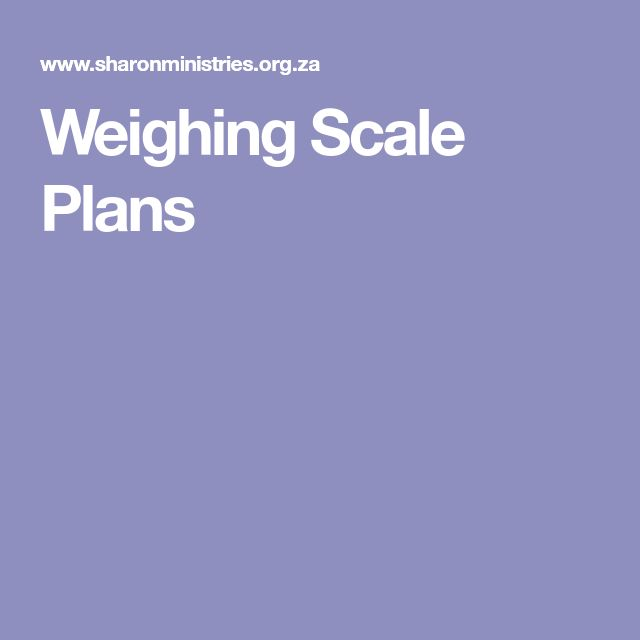 Weighing Scale Plans