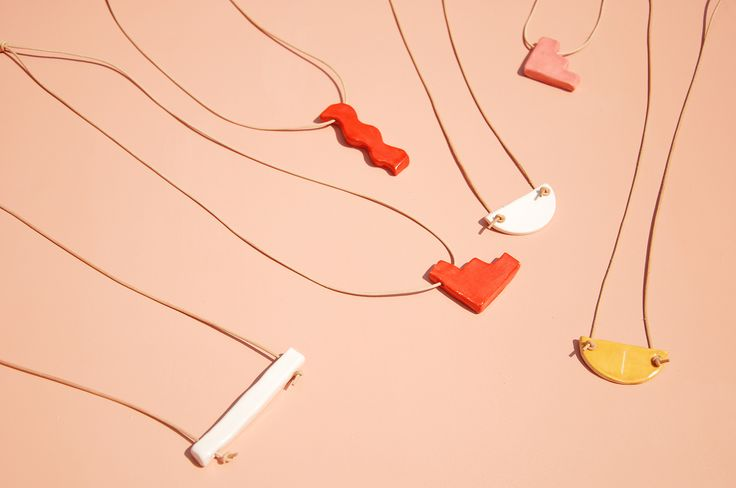 Shapes | Necklaces by Nightshift Ceramics