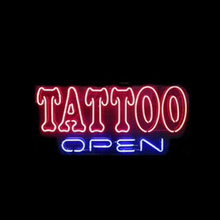 Tattoo open neon sings how i love you neon signs real for Neon tattoo signs