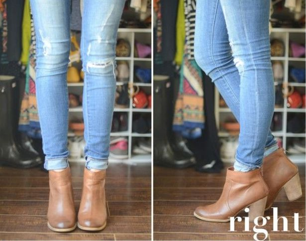 Sassy Style Hack of the Day: I love the new style of wearing my jeans cuffed with my ankle boots, but my cuff always seems to fall down in my boot, which messes up my trendy look! I just use a plain ponytail holder under the cuff to keep it in place. You're welcome!