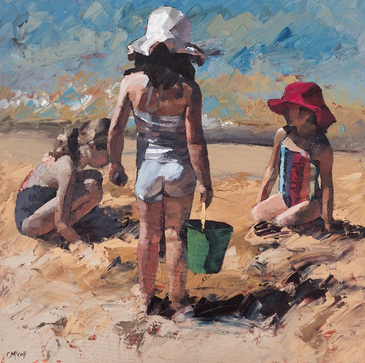 Check out Sandcastles VII Limited Edition Giclee Art Print by Claire McCall on Bluethumb