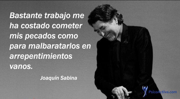 Joaquín Sabina es un famoso cantautor, poeta y artista español, que se hizo famoso por transmitir grandes mensajes, descubre aquí sus mejores citas.