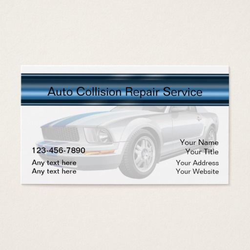 311 best auto repair business cards images on pinterest business auto body repair business card reheart Images