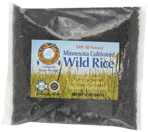 Red Lake Nation 100% All Natural Minnesota Cultivated Wild Rice, 12-Ounce (Pack of 4) Minnesota cultivated wild rice. Chippewa Indian grown and harvested. Wild rice for endless recipes. All natural. Pack of 4  12-ounce bags.  #RedLakeNation #Grocery