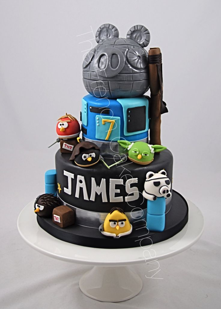 Star Wars Angry Birds Cake Pièce montée Angry Birds Star Wars