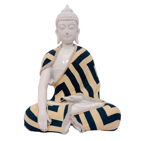 In this artifact, Buddha is meditating with hands in lap, face up and legs crossed. It depicts the prefect amalgmation of thought,senses and tranquility. This piece of art will invite serenity to your surroundings.