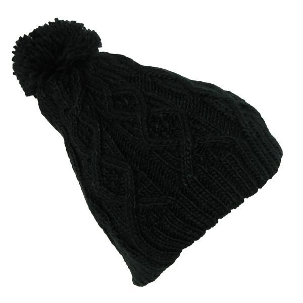 A stylish addition to your winter wardrobe, the fleece liner provides an extra layer of warmth for those cold days. The textured cable knit design features superb softness. The hat measures 9 inches long providing full coverage. Beanie hat is one size fits most up to 23.5 inches. For best results machine wash in cold water and line dry.