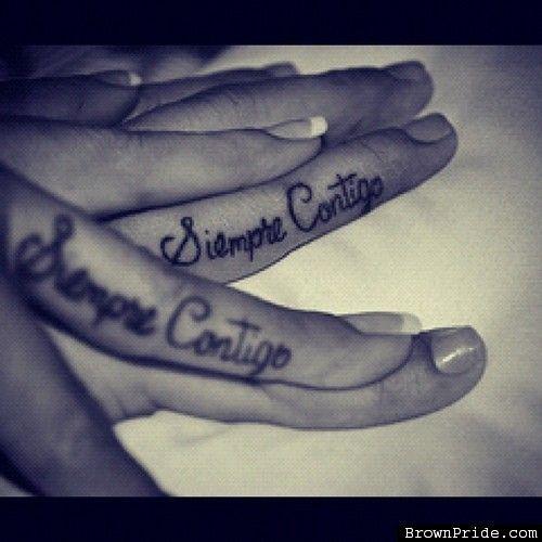siempre contigo- always with you....for my foot