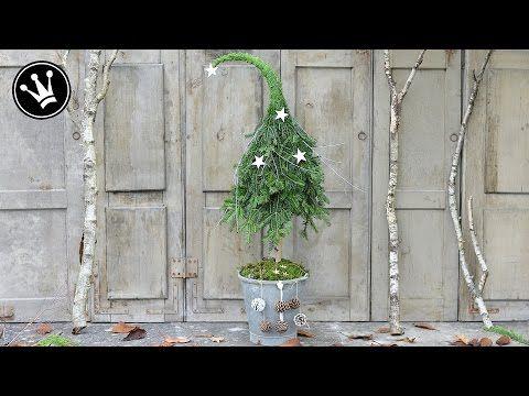 DIY - Weihnachtsdeko selber machen - Tannenbaum mit Zipfelmütze aus Naturmaterial I HowTo/Tutorial - YouTube