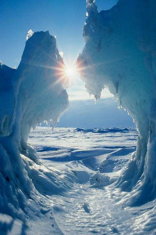 Beaufort-Meer, Arctic Ocean, Packeis