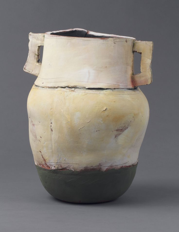 Nancy Selvin Large Pot with Green Base, 2012