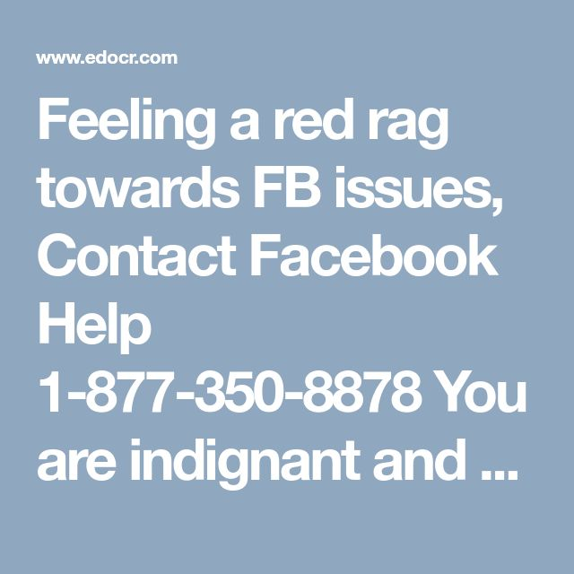 Feeling a red rag towards FB issues, Contact Facebook Help 1-877-350-8878  You are indignant and deeply concerned about frequent troubling issues related to your account. You are confronting password issues at a frequent rate and it has made your life an absolute hell. Come out of this inferno with ourFacebook Help1-877-350-8878where a troop of experts will mentor you according to your customised needs.http://www.monktech.net/facebook-contact-help-line-number.html