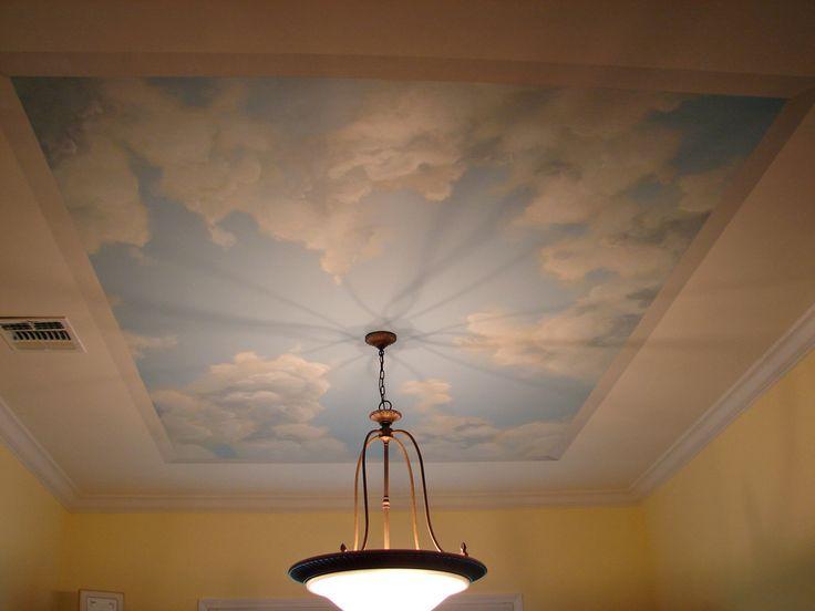Best 25 bathroom ceilings ideas on pinterest farmhouse for Ceiling mural clouds