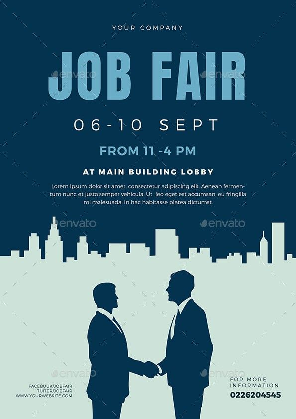 Job Fair Flyer Template 3 Things You Won T Miss Out If You Attend Job Fair Flyer Template Event Poster Template Event Poster Layout Recruitment Poster Design