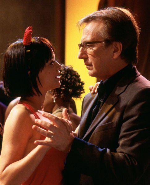 Still of Alan Rickman and Heike Makatsch in Love Actually