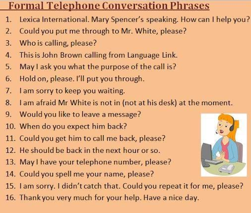 Images of Telephone Conversation In English - #rock-cafe