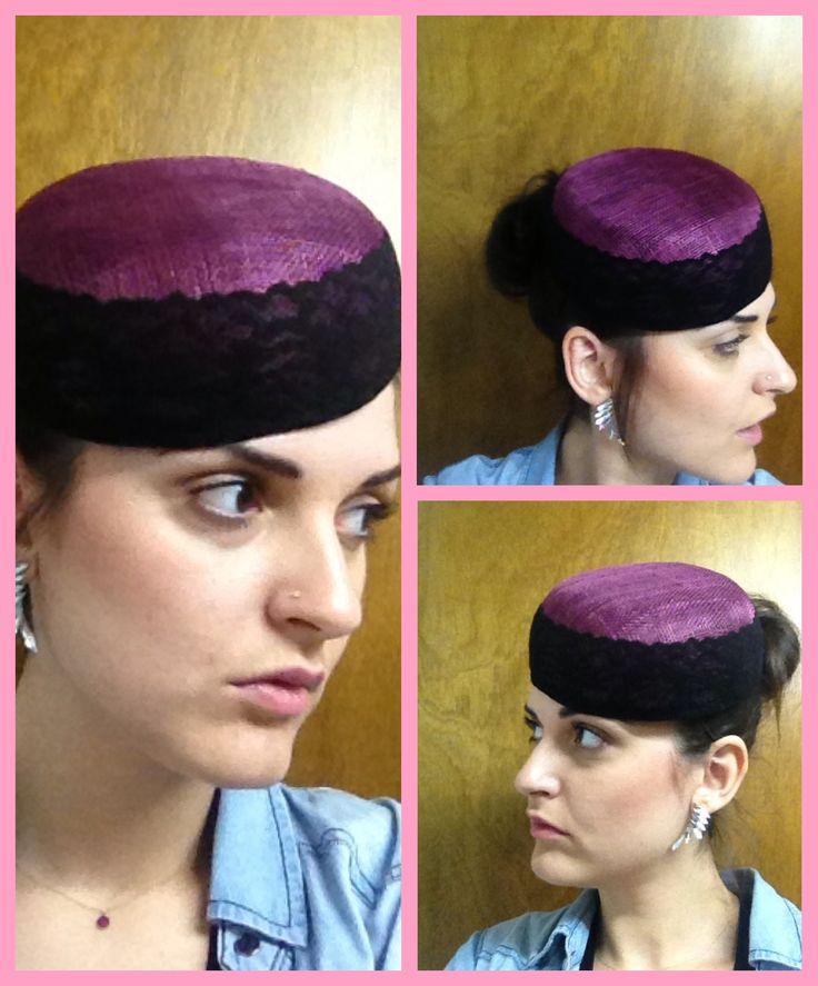 Fascinator with sinamay
