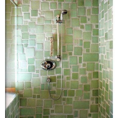 Eco-Friendly Bathroom Tile ... looks like SEA GLASS