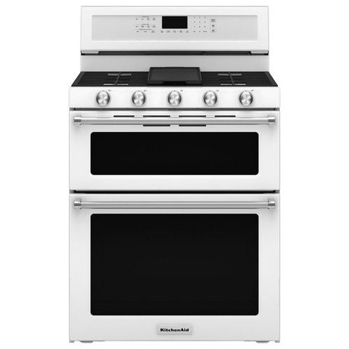 KitchenAid - 6.0 Cu. Ft. Self-Cleaning Freestanding Double Oven Gas Convection Range - $2,000