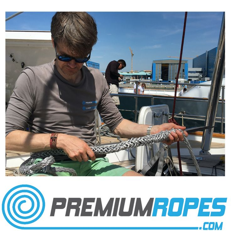 Splicing ropes on board of a Perini Navi #running #rigging #yacht #rigging #splicing #stirotex #fid #rigger #polman #riggingservices #fitting #premiumropes #premium #dyneema #ropes #yachtrigging #rigger #international #megayacht #sailingyacht #sailing #superyacht #perininavi