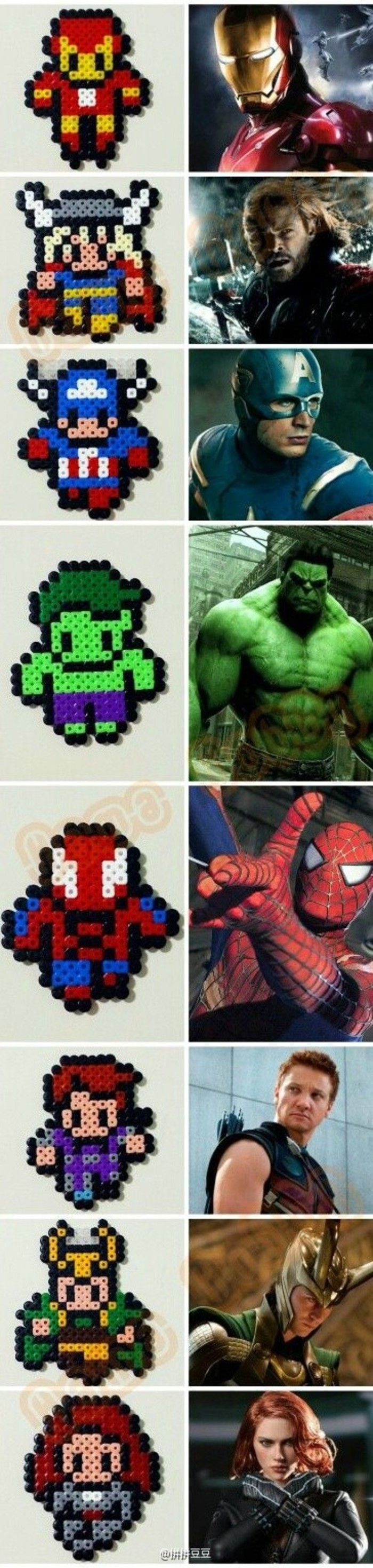 The Avengers - Marvel perler beads