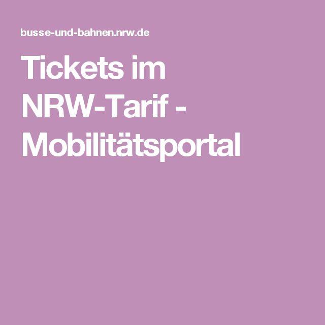 Tickets im NRW-Tarif - Mobilitätsportal