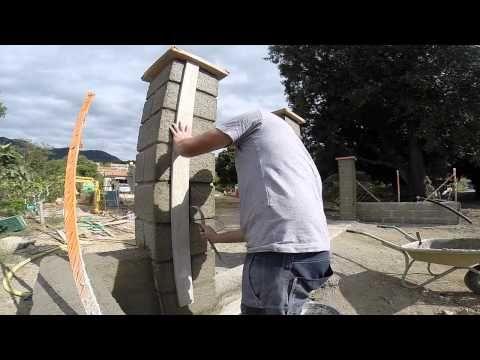 Забор и ворота: штукатурка, имитация камня и покраска — Яндекс.Видео