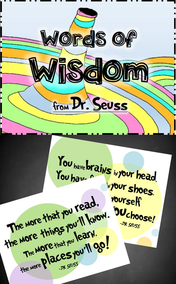 """Oh, the Places You'll Go"" Posters Super cute posters with inspirational Dr. Seuss quotes - 5 popular quotes in all. $"