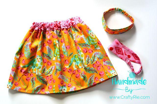 Worlds Easiest Skirt and Headbands!