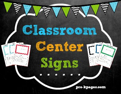 Best 25 Center Signs Ideas On Pinterest Classroom