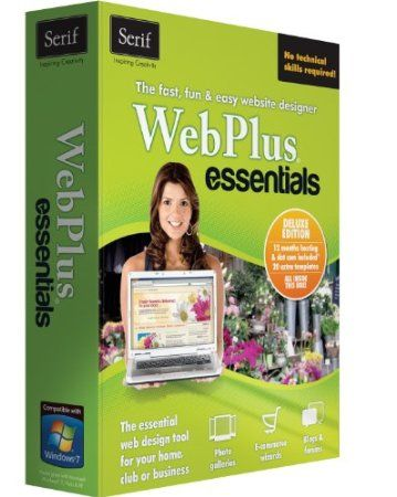 WebPlus Essentials Deluxe makes designing and publishing your website easy no HTML knowledge required! It really is quick and easy for anyone to get a website up and running in no time at all. Easy-to-use Thanks to the what you see is what you get (WYSIWYG) user interface in WebPlus Essentials Deluxe there's no complicated HTML coding or programming to master. Simply drag and drop whatever you want onto your page to create your website it s that simple!  Price: $49.99