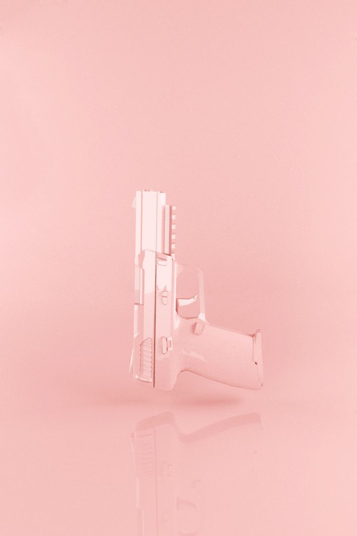 """""""Pink Gun"""" by Zurbi Created with 3DSMax // Get social with @crushingonpink on Instagram <3"""