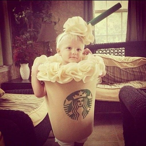 This pint-sized Frappucino. | 23 Kids Who Are Totally Nailing This Halloween Thing