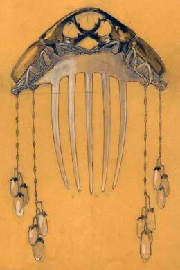 René Jules Lalique (1860-1945) hair ornament