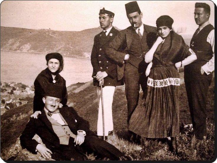 Ali Sami Yen ve arkadaşlar Boğaziçi gezisinde -