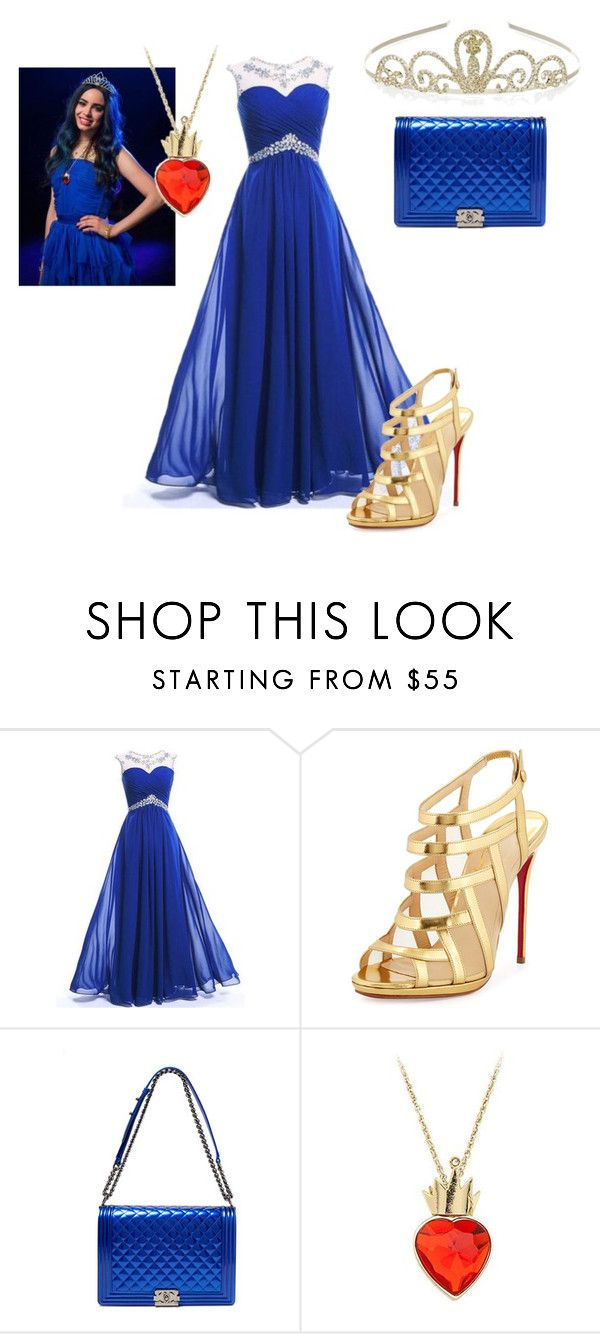 """""""descendants evie"""" by maria-look on Polyvore featuring Christian Louboutin, Chanel, Disney, Monsoon, women's clothing, women, female, woman, misses and juniors"""
