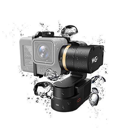 Feiyu Tech FY WG2 imperméable Wearable Gimbal et tissu de lentille SBONY, bande de poignet anti-percée et chargeur de voiture rapide avec Qualcomm 3.0 pour GoPro Hero5 / 4 / Session et mesures similaires Action Camera