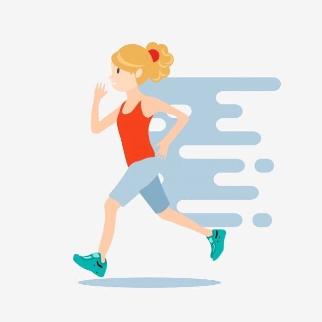 Motion Running Girl Sports Work Out Girl Clipart Running Cartoon Dynamic Png And Vector With Transparent Background For Free Download Running Cartoon Girl Running Cartoon