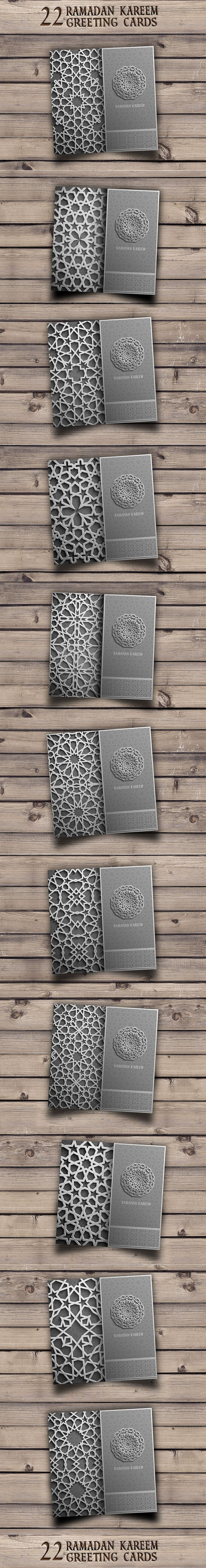 Ramadan Kareem greeting cards set on Behance