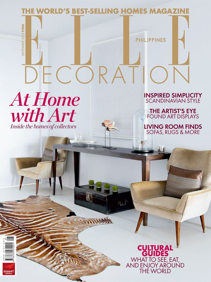 ELLE Decoration Philippines September 2013 Get Your Copy