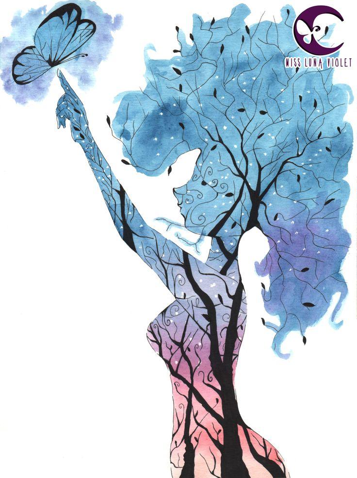 misslunaviolet Ilustracion watercolor #ilustration #art #watercolor #acuarela