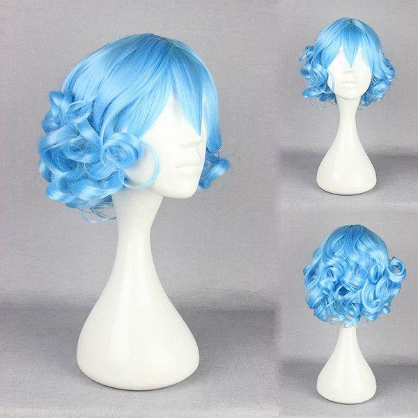 Traje de cosplay peluca de pelo sintético de ensueño niña de dibujos animados-calor agradable carácter de hadas
