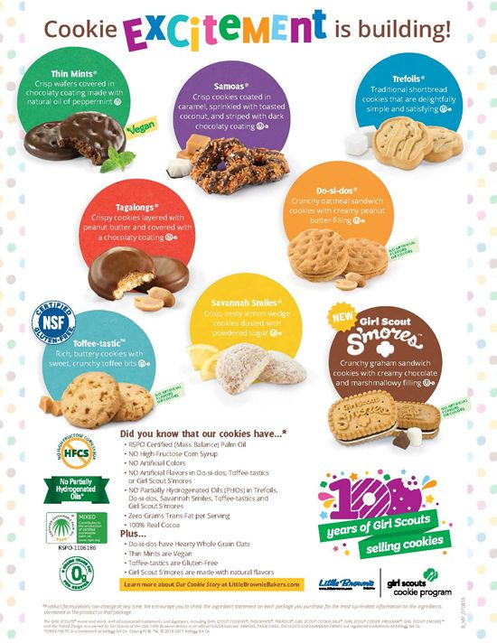 2017 Girl Scout Cookie Program | Crescenta Valley Girl Scouts Service Unit